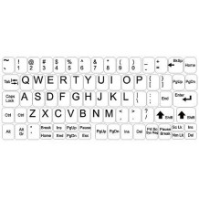 Autocollants pour clavier à fond blanc, grand kit